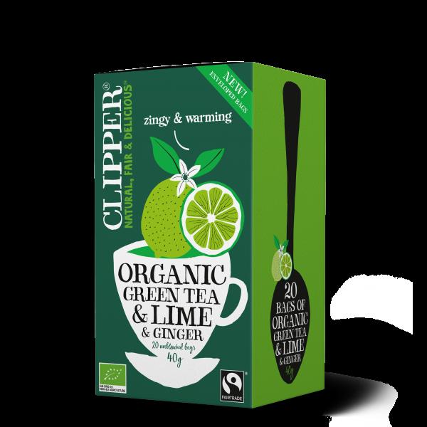 Luomu vihreä tee Lime & Inkivääri