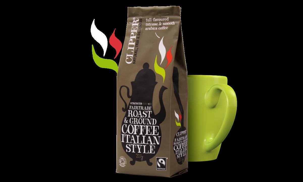 Fairtrade roast ground italian style coffee